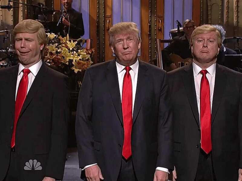 Snl veteraner skickar Trump en jätte skulptur skulptur - låt oss diskutera