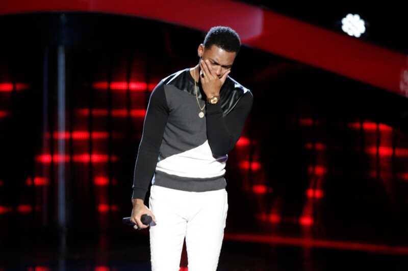 Rösten blir emotionell med sin mest rörliga audition än