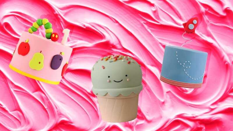 Ang mga trendiest cake ng kaarawan sa bata sa instagram