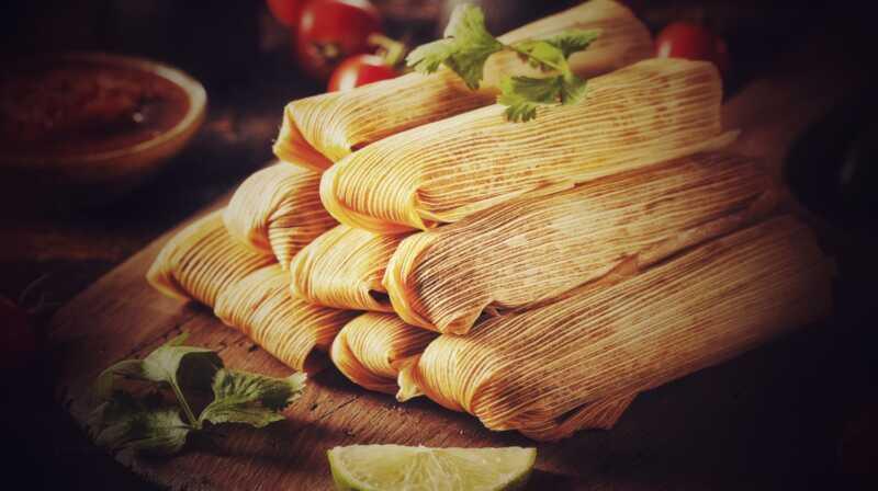 Tohle je moje mat-mexova matka recept Tamale, všichni a je to mexický dost