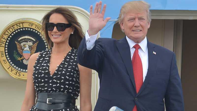 Vai Melanija patiešām pārspēja Donalda īsu roku?