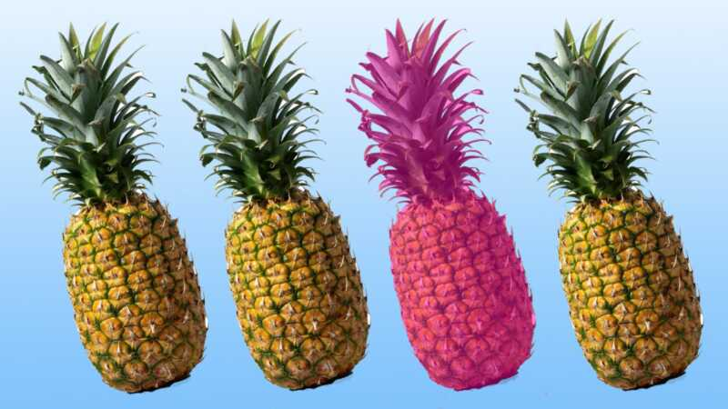 Breken: nu komen ananas in millennial pink