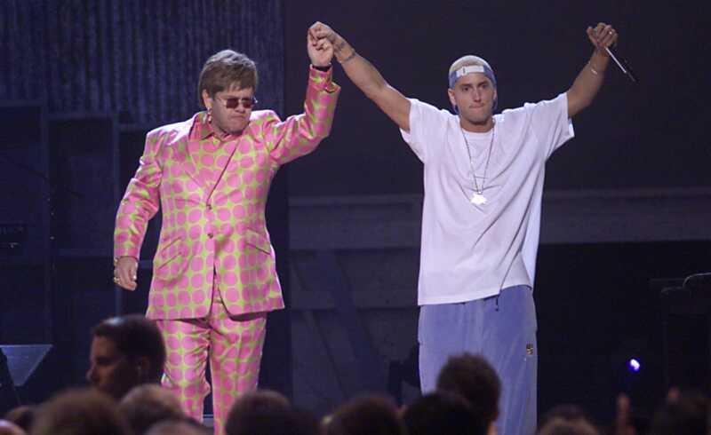 Det er usandsynligt, at BFFs Elton John & Eminem har ægte kærlighed til hinanden