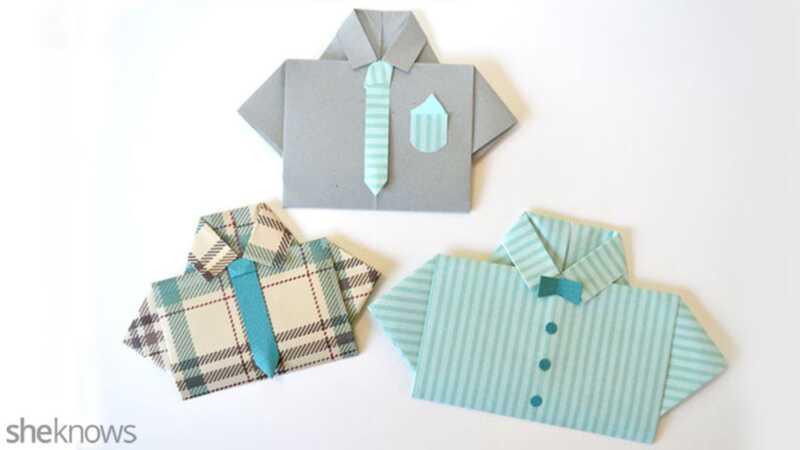 Varför, ja, du kan göra det själv en fars dagkort som matchar pappans favoritskjorta