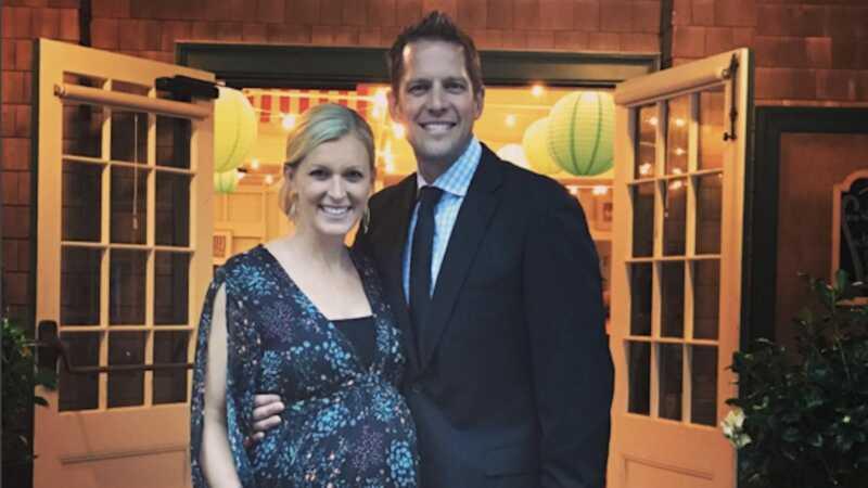 Kandidatpar Chris och Peyton Lambton avslöjar sitt barnnamn