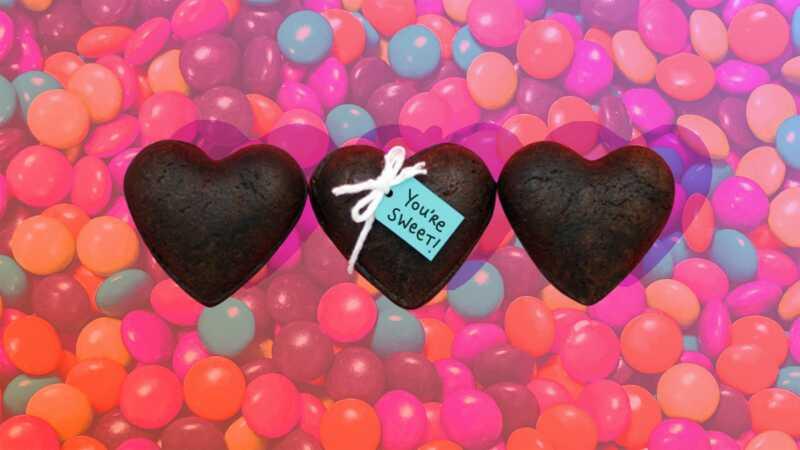 Hjerteformede brownie skattekasser vil helt imponere din valentine