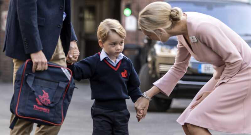 Si Prince George ay may sakit na ng paaralan