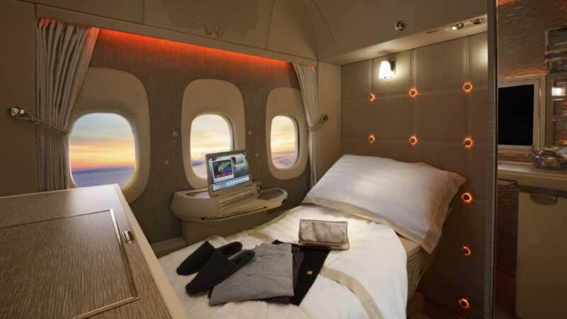Um olhar dentro de algumas das cabines de avião mais luxuosas do mundo