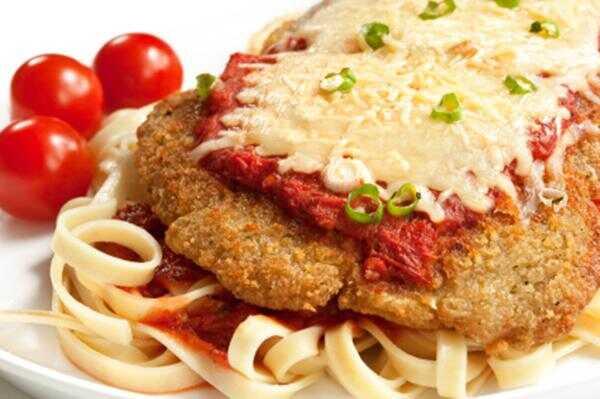 Večerná večera: pečený kurací parmezánový recept