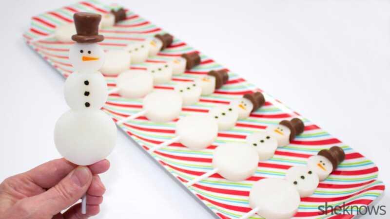 Снеговик Jell-O выстрелы: зима piña колада лечить вы никогда не знали, что вам нужно