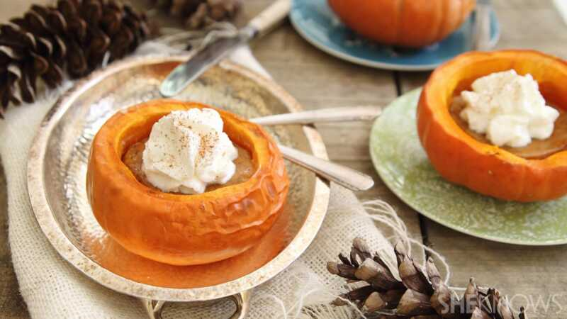 Pumpkin pita unutar mini tikvice može biti samo najsitniji recept ikada