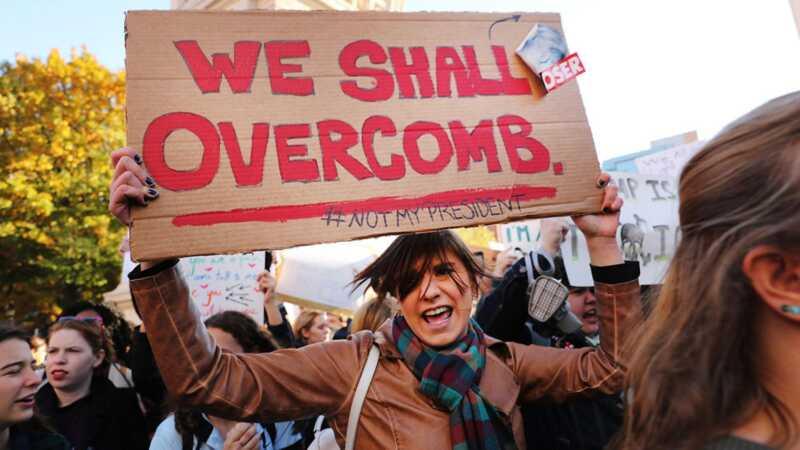 Vad gör du om du stöter mot demonstranter vid kvinnornas mars på washington