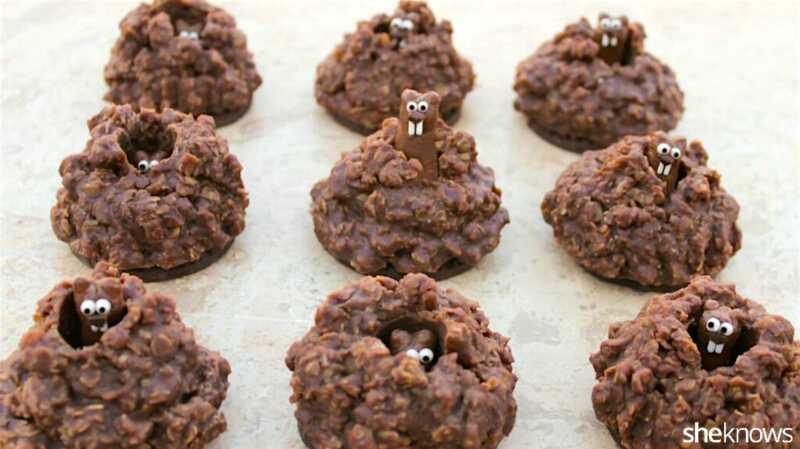 Pop-up groundhog cookies for å feire slutten (vi håper) om vinteren